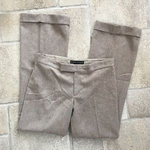 Ralph Lauren Black Label Tan Wool Pants 6